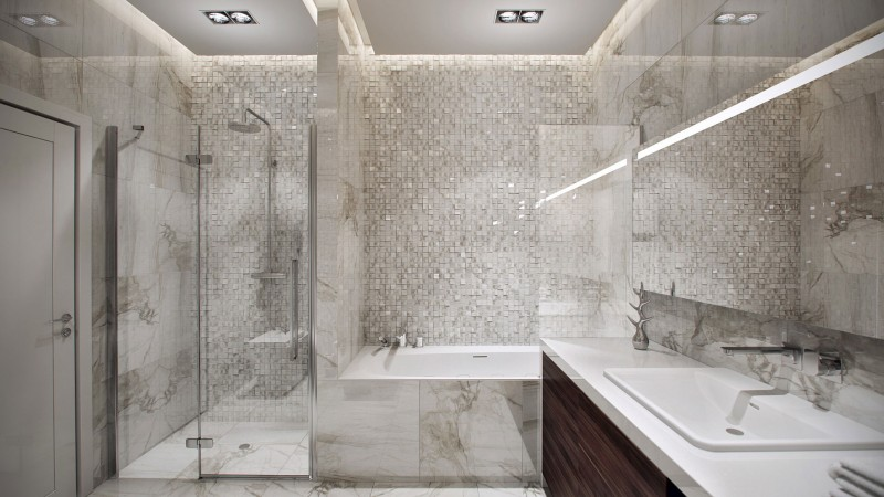 Marble Bathroom Tile marble tile bathroom ideas - interior design