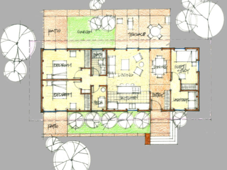 Download mid century modern plans plans free for Small mid century modern home plans