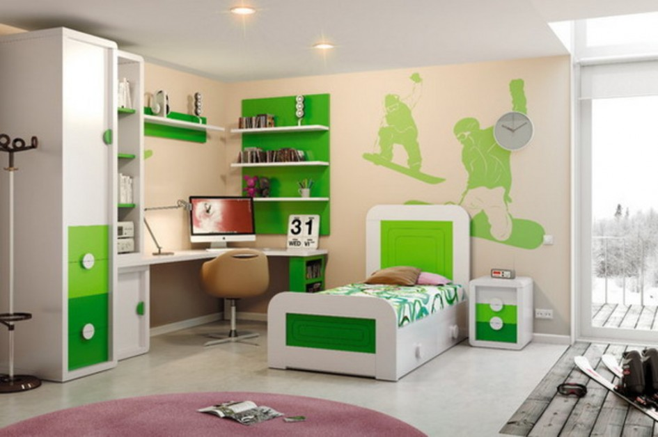 Modern kids bedroom furniture sets for boys decor for Modern kids furniture