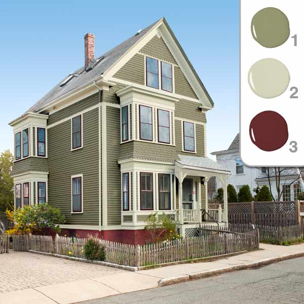 Exterior House Paint Color Schemes 600 x 600