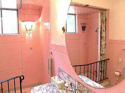 Pink tile bathroom ideas decor ideasdecor ideas for Pink grey bathroom accessories