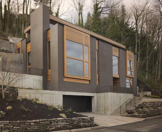 Portland modern homes oregon decor ideasdecor ideas for Mountainside home designs