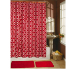Red Shower Curtain Set