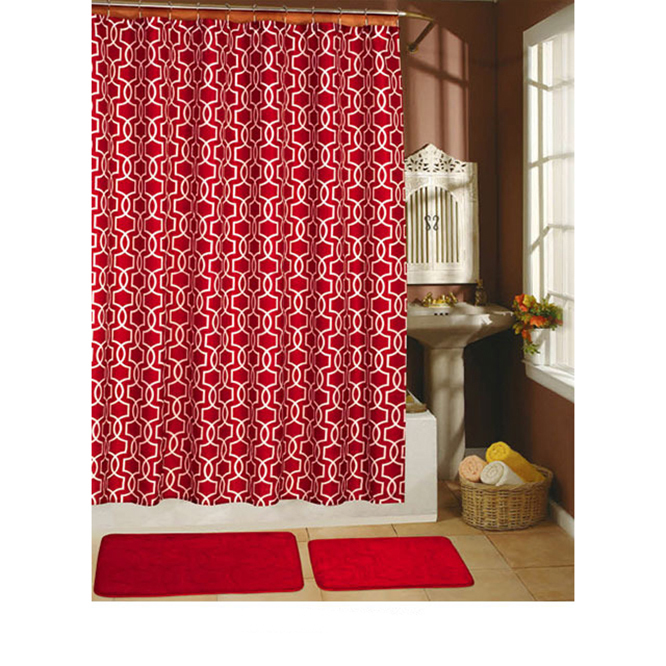 Red Shower Curtain Set Decor Ideasdecor Ideas