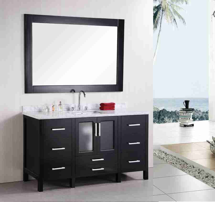 Single sink bathroom vanity cabinets decor ideasdecor ideas for Single vanity bathroom ideas