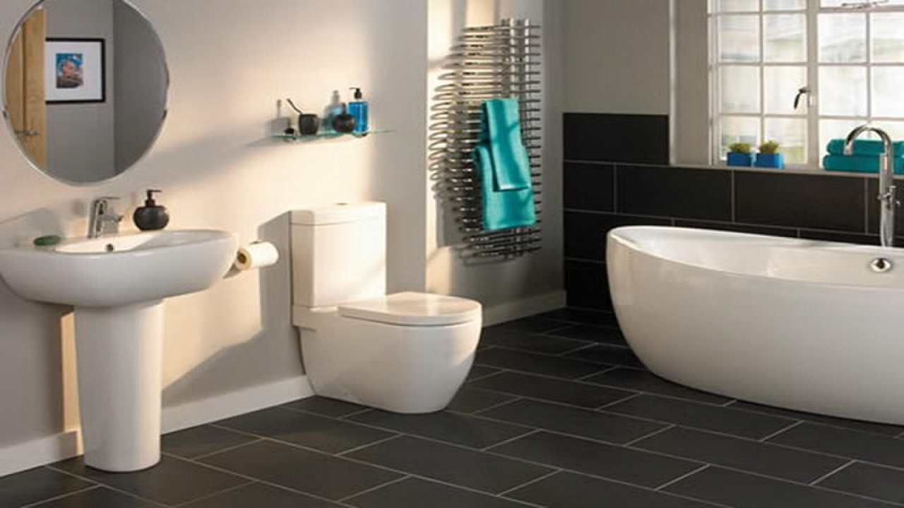 Slate Bathroom Floor Tiles Decor IdeasDecor Ideas