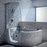 Small Corner Bathtub Shower Combo