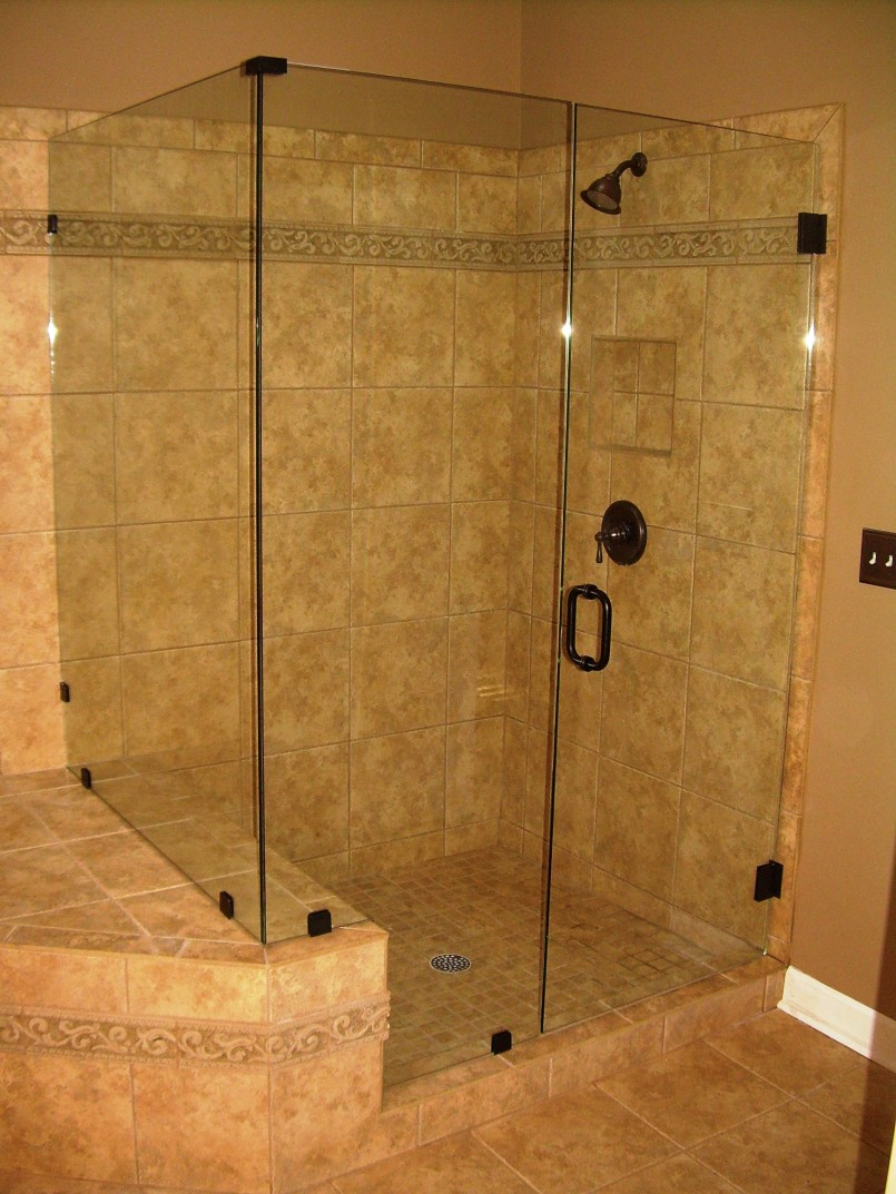 Tile shower ideas for small bathrooms decor ideasdecor ideas for Bathroom door ideas