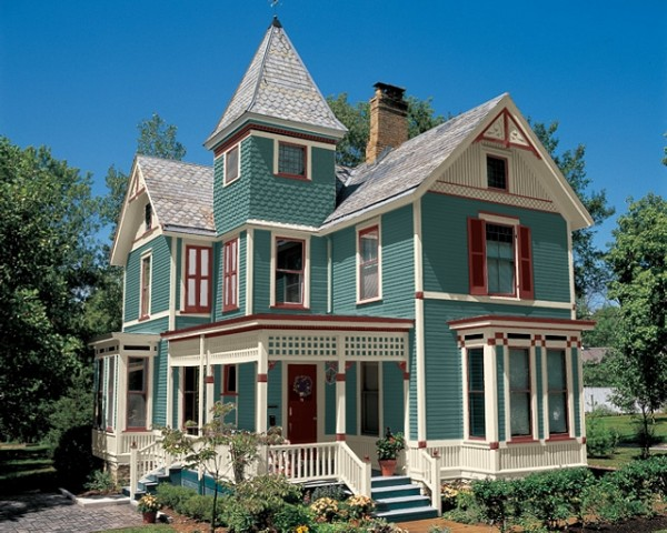 Victorian house paint colors exterior decor ideasdecor ideas for Historic house colors exterior