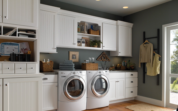 Storage ideas for small bathrooms with cabinets decor for Cheap laundry room cabinets