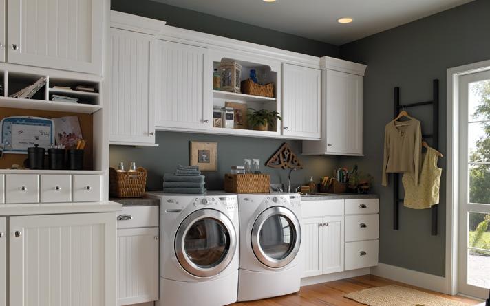 White Laundry Room Cabinets Decor IdeasDecor Ideas