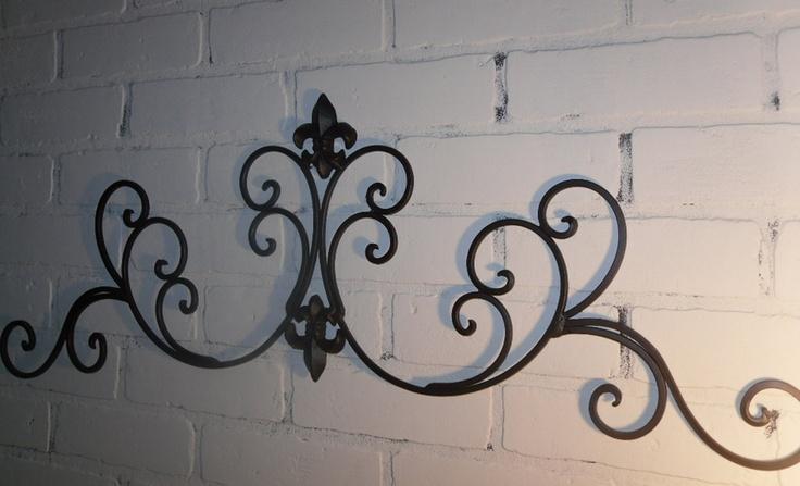 Wrought Iron Fleur De Lis Wall Decor