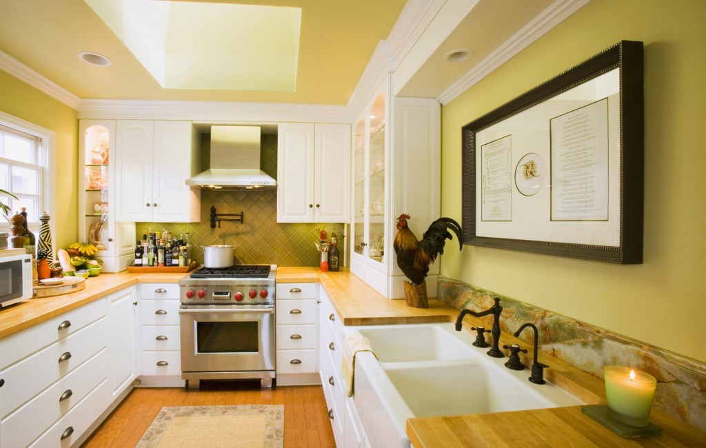 Yellow paint colors for kitchen decor ideasdecor ideas - Small kitchen paint ideas ...
