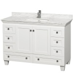48 White Bathroom Vanity