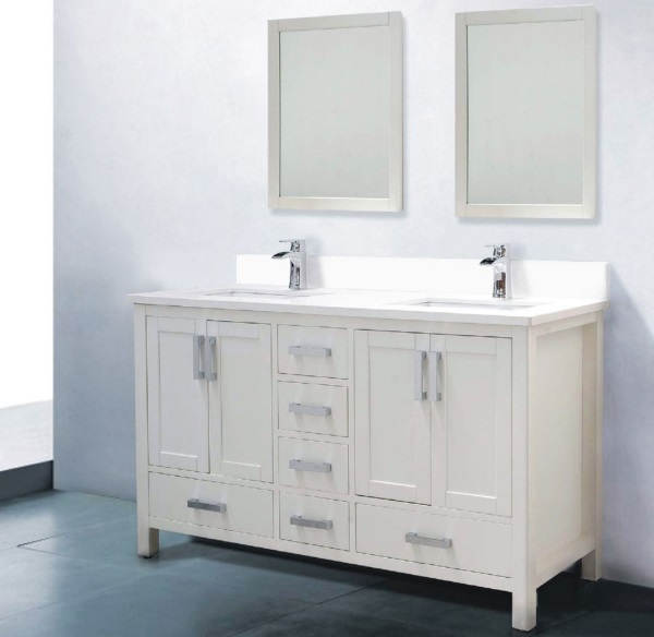 60 White Bathroom Vanity Double Sink Decor IdeasDecor Ideas