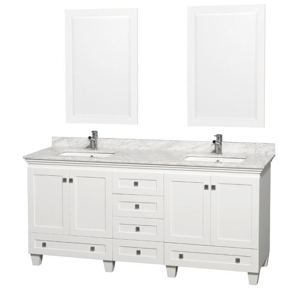 72 White Bathroom Vanity