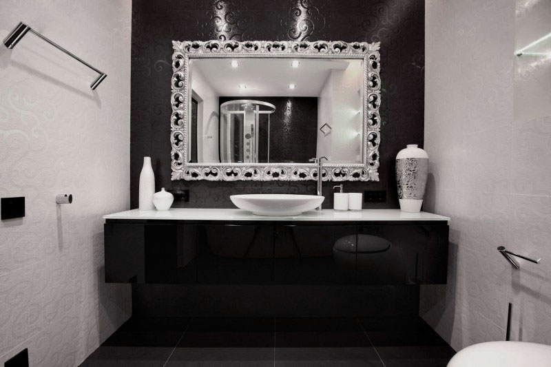 black and white bathroom decorating ideas decor