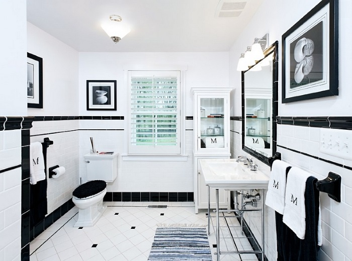 Black and White Bathroom Ideas