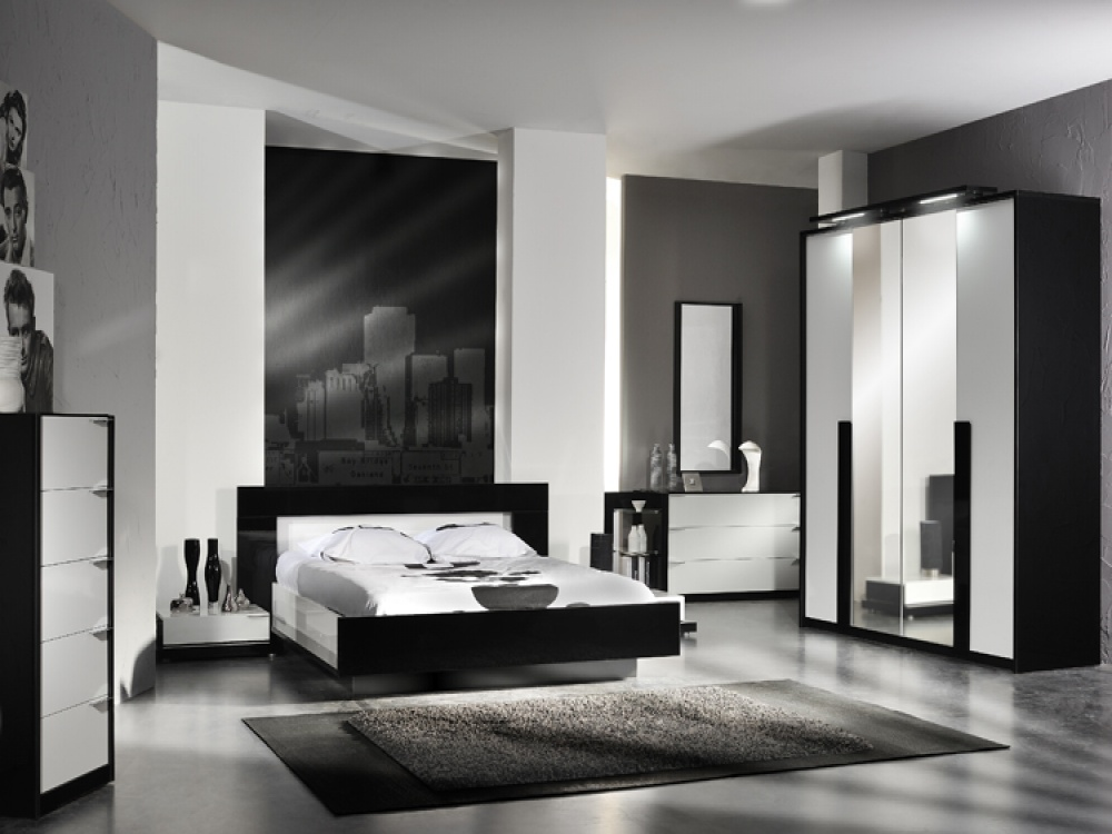Black and white bedroom furniture sets decor ideasdecor for Black and white modern bedroom ideas