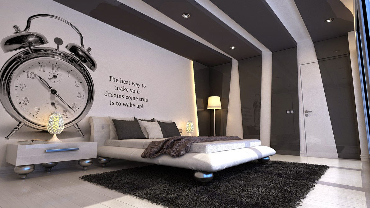 Black and white bedroom wallpaper decor ideasdecor ideas for Black bedroom wallpaper designs