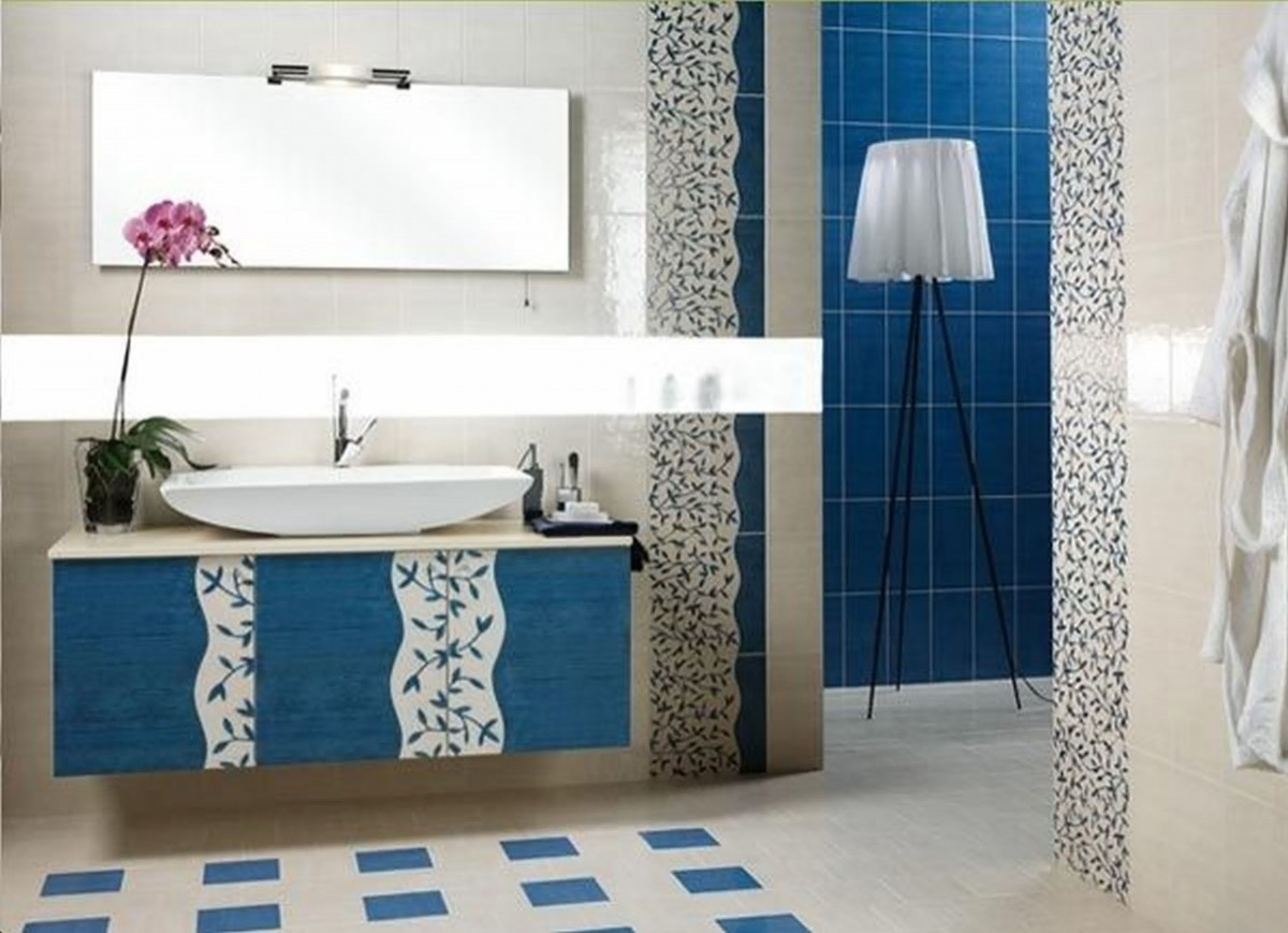 Blue and white bathroom designs decor ideasdecor ideas for Bathroom furniture design ideas
