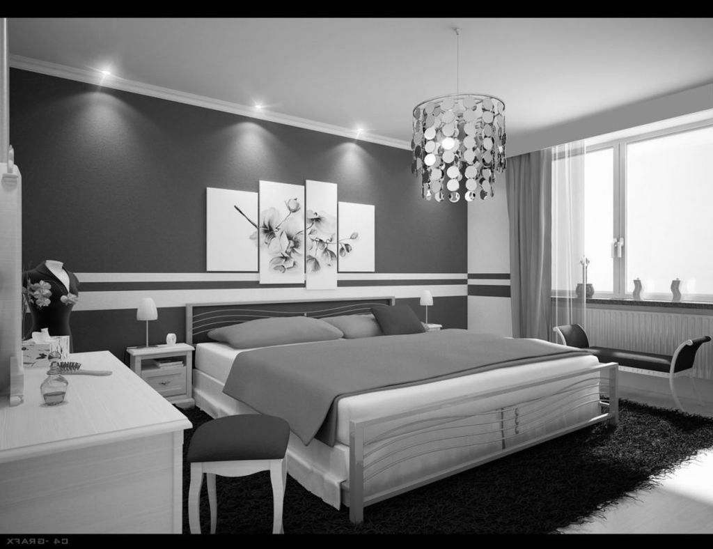 Gray black and white bedroom ideas decor ideasdecor ideas for Bedroom room decor ideas