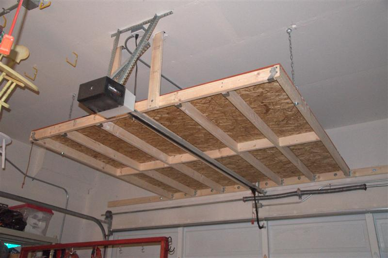 Hanging Garage Shelves