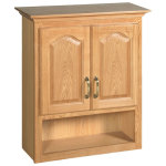 OAK Bathroom Wall Cabinets