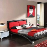 Red Black and White Bedroom Ideas