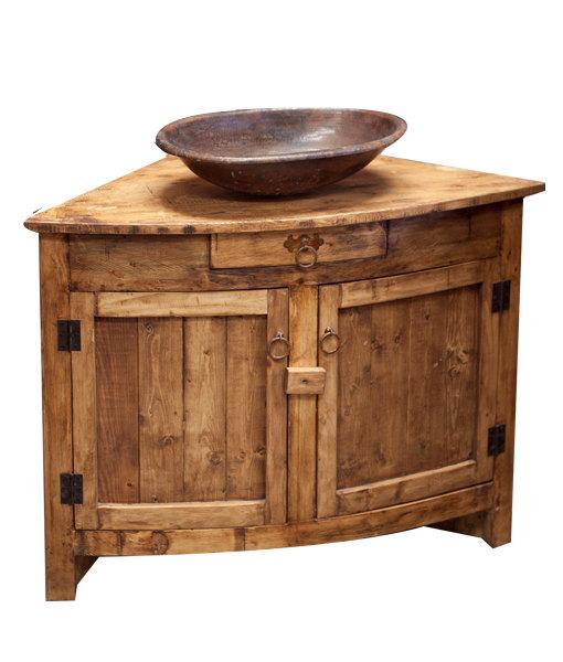 Rustic bathroom cabinet