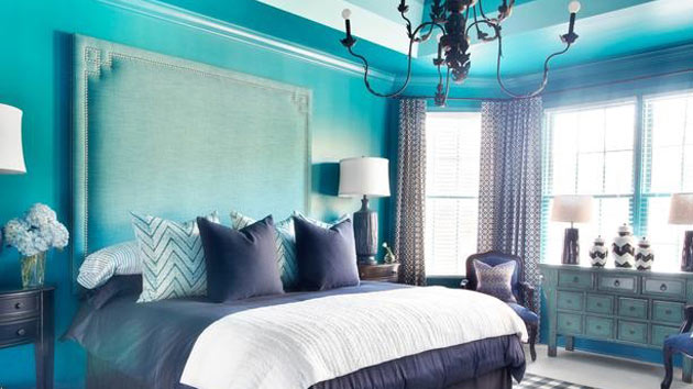 Turquoise black and white bedroom decor ideasdecor ideas for Black and white and turquoise bedroom ideas