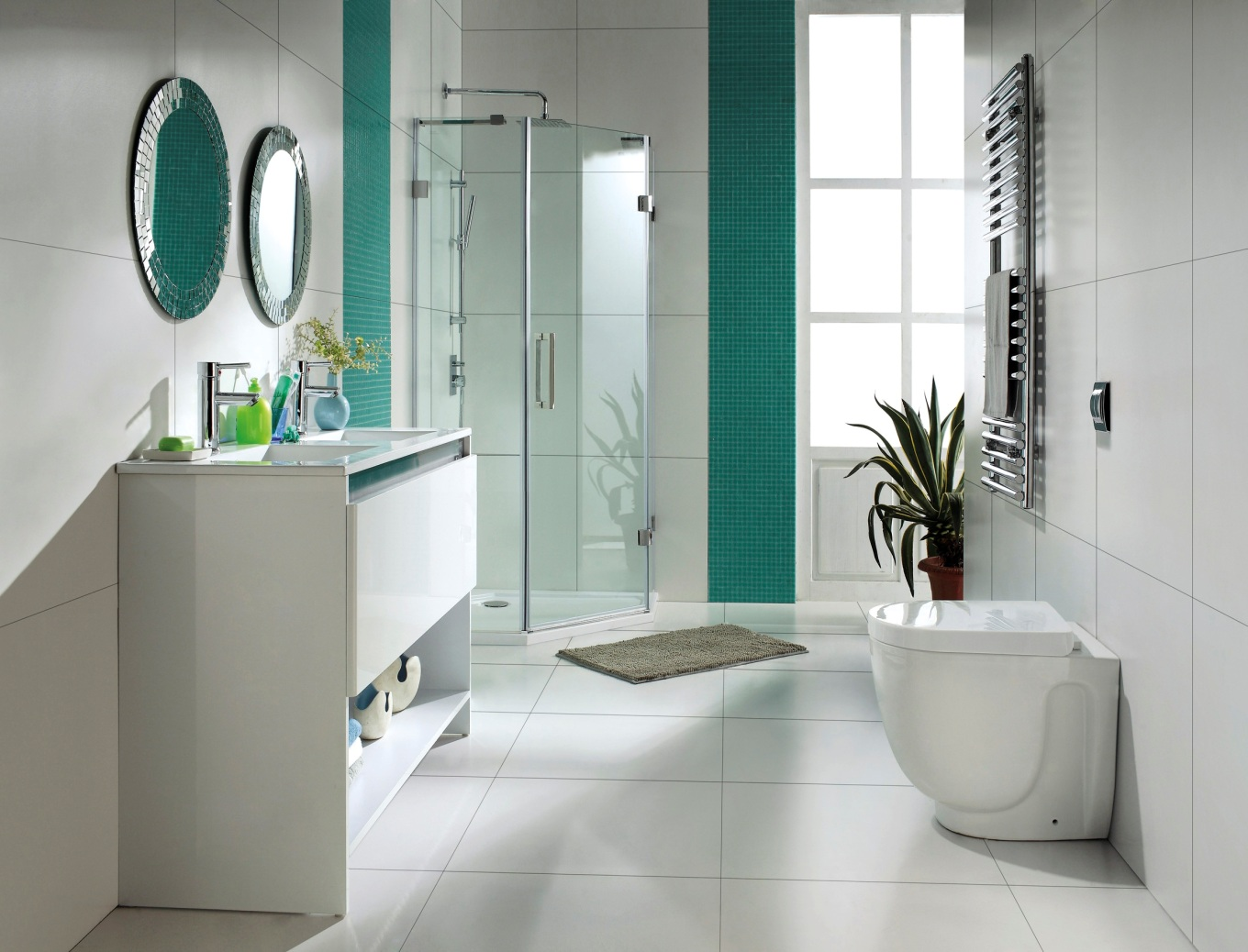 White bathroom decor ideas decor ideasdecor ideas for Pics of bathroom decor