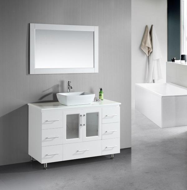 White Bathroom Vanity with Vessel Sink - Decor IdeasDecor Ideas