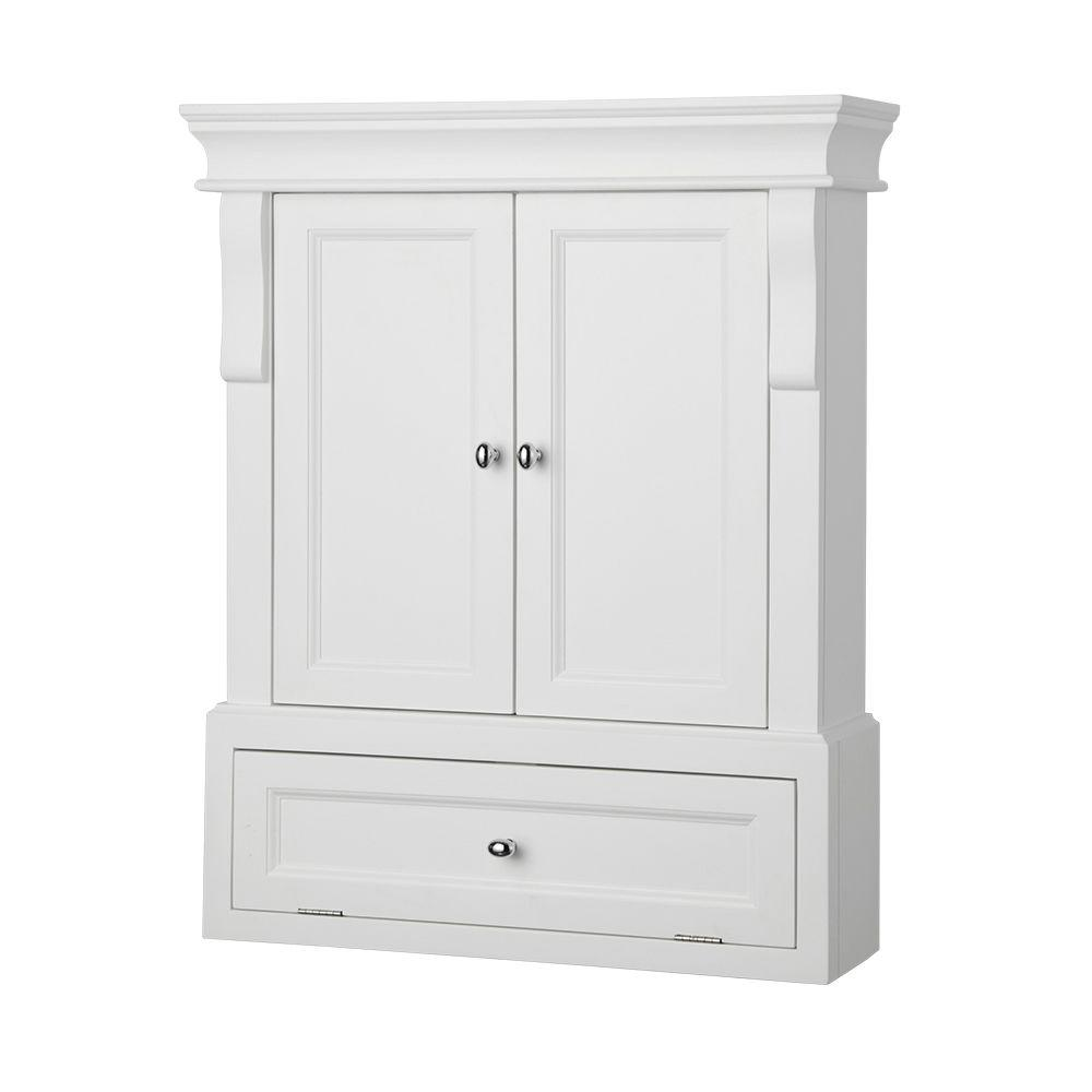 White wall cabinet for bathroom decor ideasdecor ideas for In wall bathroom storage