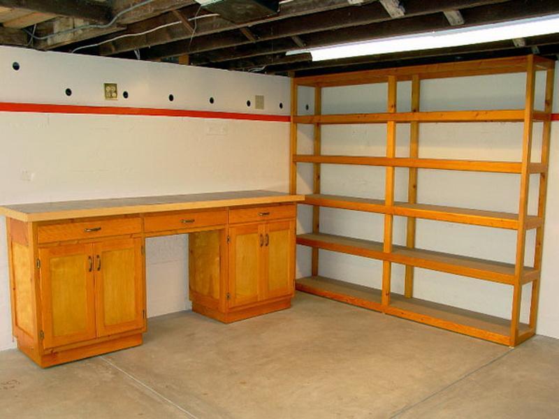 Wood Garage Shelves