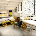 Yellow Black and White Bedroom Ideas