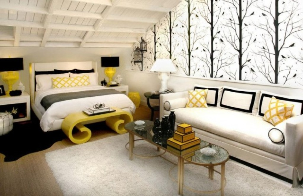 Yellow black and white bedroom ideas decor ideasdecor ideas for Black and yellow bedroom designs