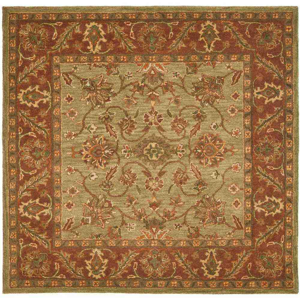 8 X8 Area Rugs Safavieh Dhurrie Rug Light Green And