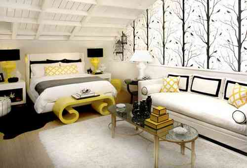 Black And White And Yellow Bedroom yellow bedroom ideas. zamp.co