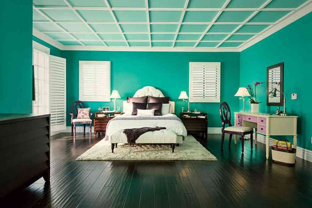 Black and teal bedroom decor ideasdecor ideas for Teal bedroom