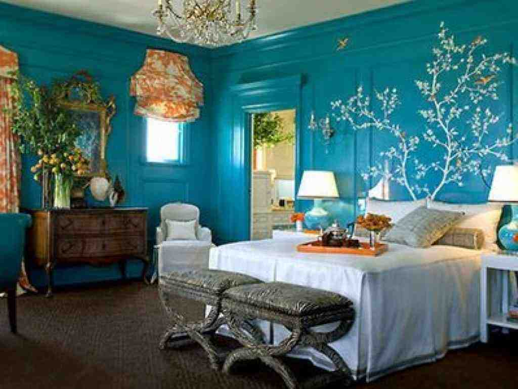 Blue and teal bedroom decor ideasdecor ideas for Bedroom mural designs