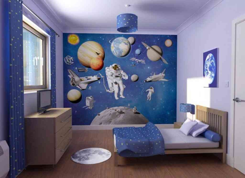 Boys bedroom wall decor decor ideasdecor ideas for Boys room wall mural