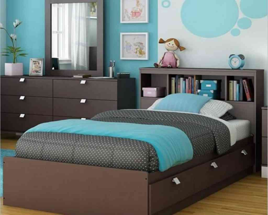 teal and brown bedroom images