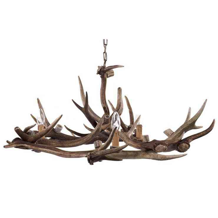 Fake Antler Chandelier