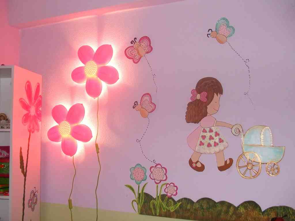 Girls bedroom wall decor decor ideasdecor ideas for Art room mural ideas