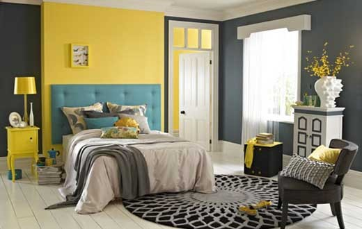 Grey and yellow bedroom ideas decor ideasdecor ideas for Bedroom ideas yellow and grey