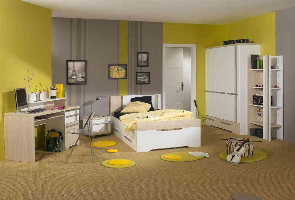 Grey and yellow bedroom walls decor ideasdecor ideas for Yellow grey bedroom designs