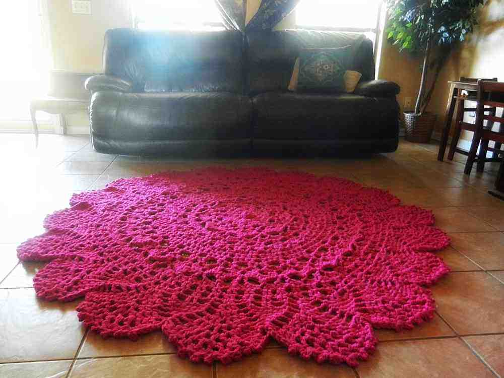 Hot Pink Area Rug