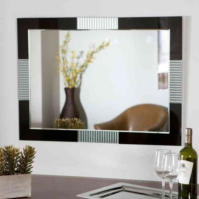 Large modern wall mirrors decor ideasdecor ideas for Large contemporary mirrors