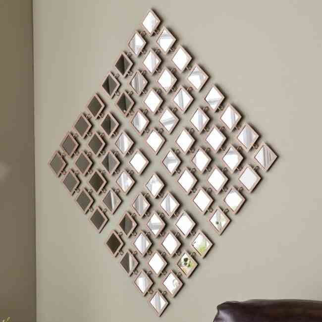 Metal mirror wall art decor ideasdecor ideas for Mirror wall art
